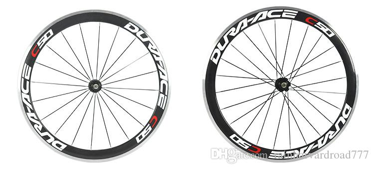 alloy brake surface 50mm carbon wheelset for road bike 700c carbon clincher wheels 23mm wide with ceramic bearing hubs wheels