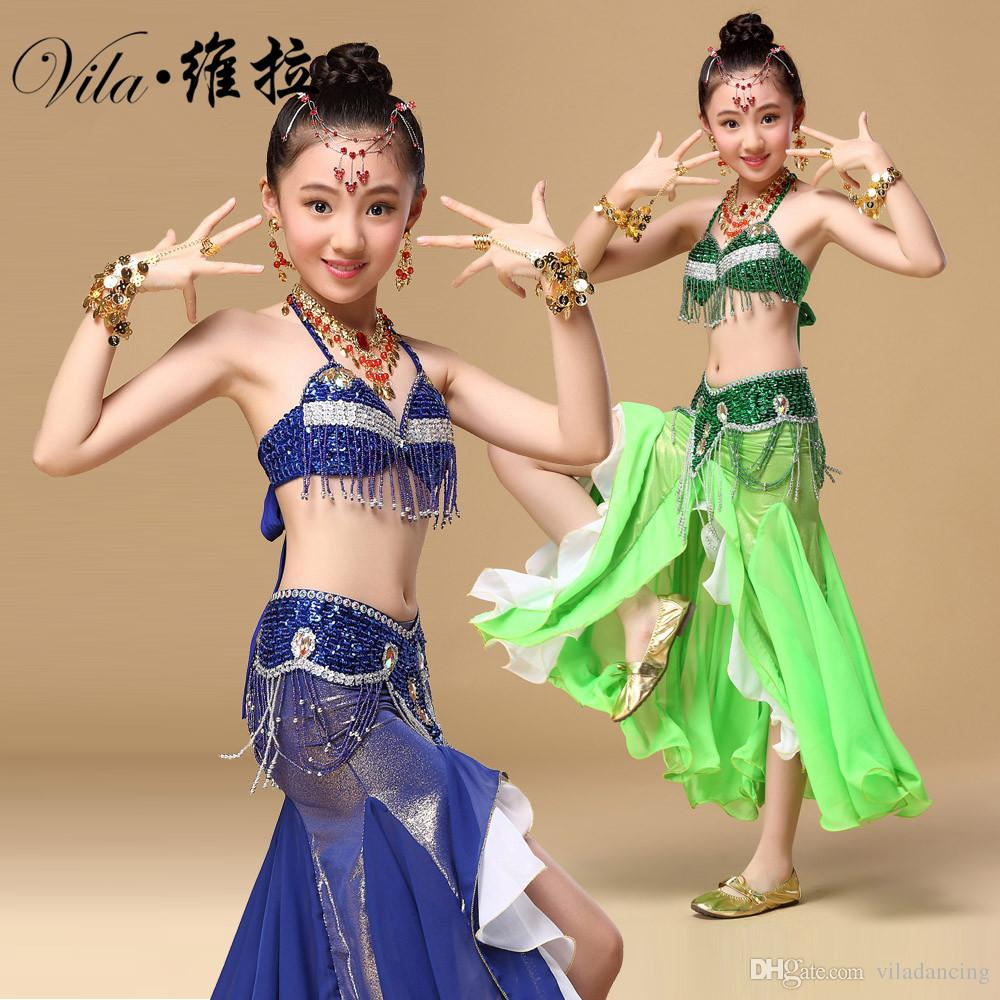 d1eb50e684 2019 Children Belly Dancing Cloth For Chld Performance Oriental Suit ...