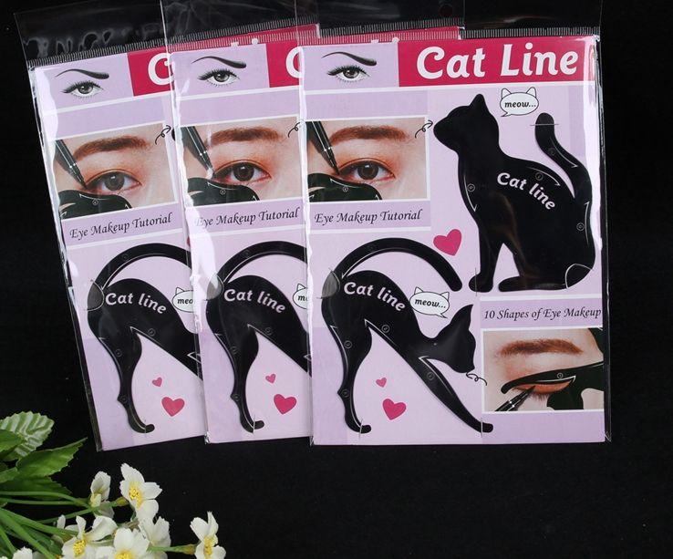 Charming Cat Line Eye Makeup Tool Eyeliner Stencils Template Shaper Model Beginners Efficient Eyeline Card Tools