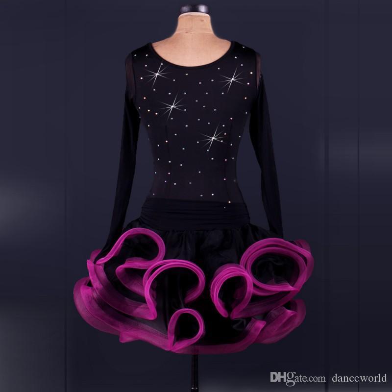2018 Professional Latino Dress Dance Donna Salsa Competition Abiti da ballo Dance Clothes Donna Samba Dance Costumes