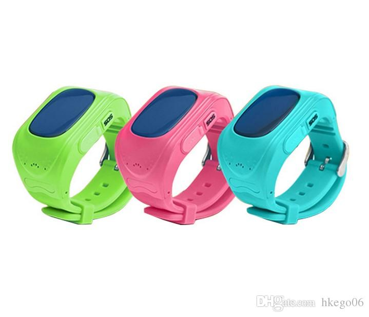 Excelvan Q50 Smart Phone Watch Kids Wristwatch GSM GPRS GPS LBS Location Tracker Anti-Lost Children Smartwatch for Android Ios