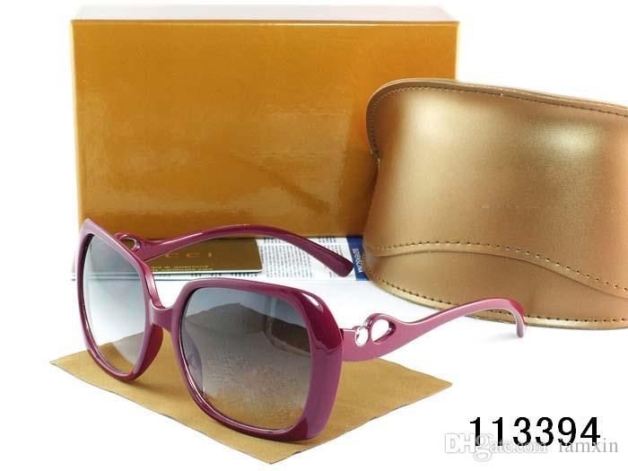 أزياء المرأة الطيار النظارات الشمسية مصمم ساحة الانقلاب مكبرة العديد من الألوان + مربع