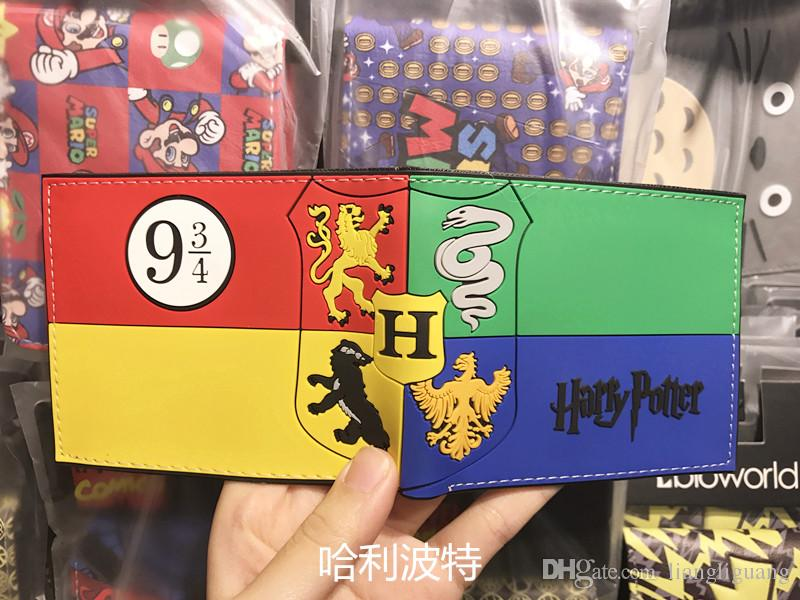 Hot Anime Purse Wallet Movies Harry Potter Printed Leather Dollar Bags Gift Teenager Boy Girl Leather Short Wallets