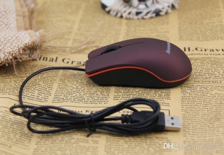 Souris optique USB mini souris filaire de jeu 3D avec boîte de vente au détail pour ordinateur portable pour ordinateur portable jeu Lenovo M20 livraison gratuite