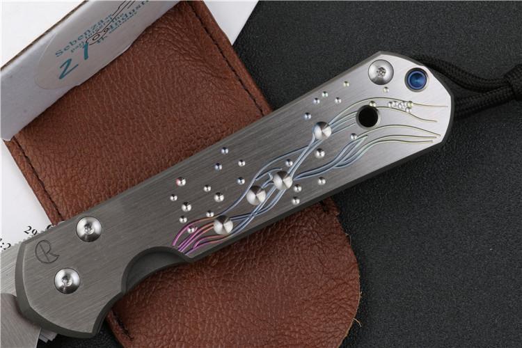 OEM grande Sebenza Inkosi 21 CPM S35vn maniglia in titanio pieghevole frutta frutta tasca da campeggio caccia EDC strumento da cucina coltello
