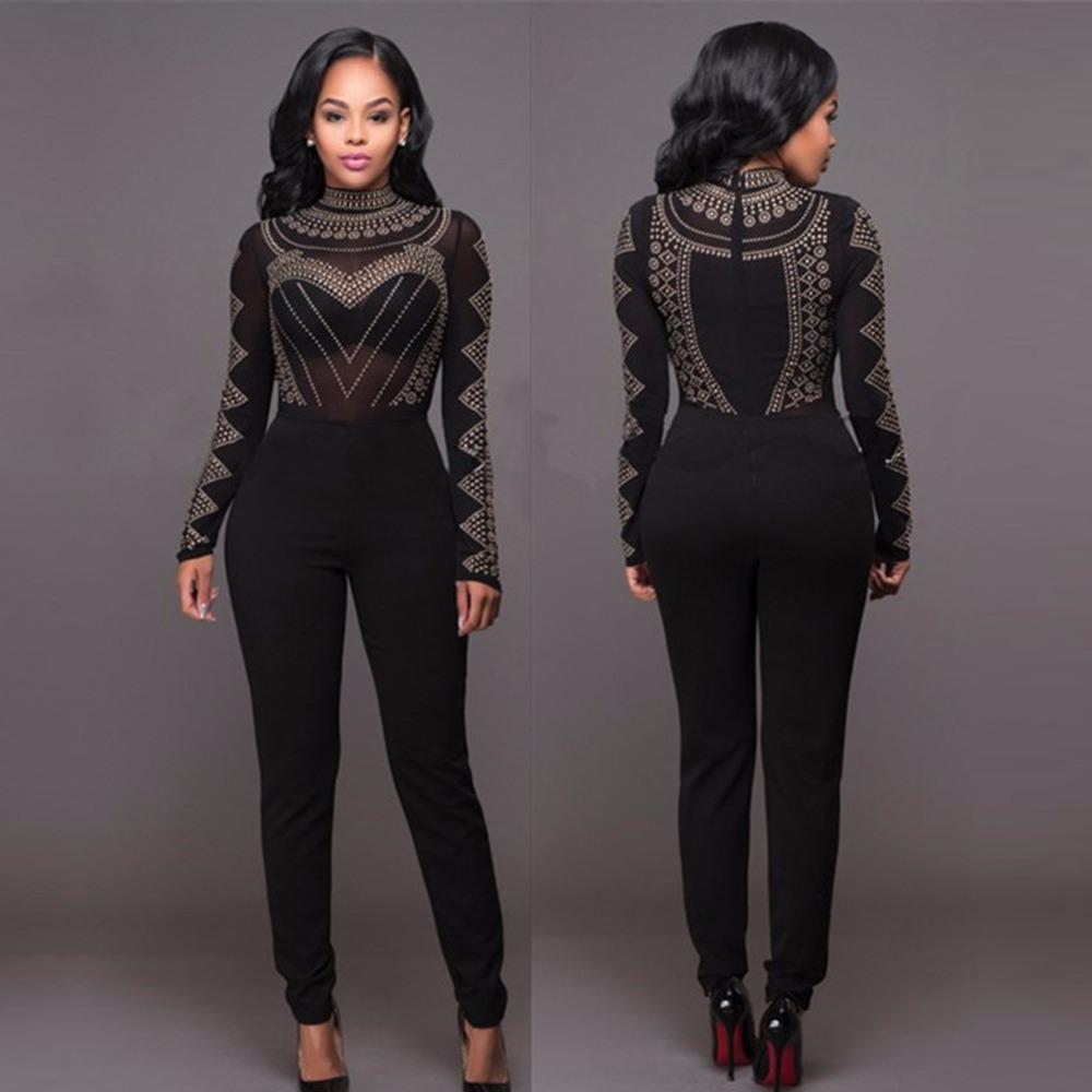 8260078887a9 Online Cheap Wholesale NEW Autumn Spring Rompers Womens Jumpsuit Casual Long  Sleeve Jumpsuit Fashion Bodycon Overalls Black Bodysuit Plus Size By Roberr  …