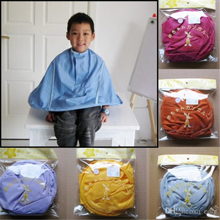 Colorful Kid Salon Hairdressing Hair Cutting Barber Hairstylist Gown Cape Bib