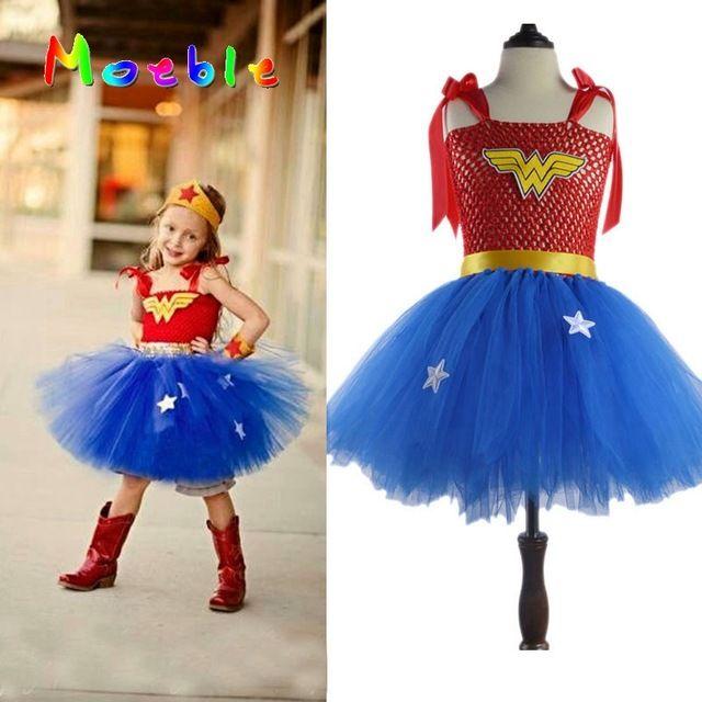 Online Cheap Superhero Wonder Woman Girl Tutu Dress Kids Cosplay Costume Christmas Halloween Dress Up Tutu Dresses Baby Photo Props By Damiliu | Dhgate.Com  sc 1 st  DHgate.com & Online Cheap Superhero Wonder Woman Girl Tutu Dress Kids Cosplay ...