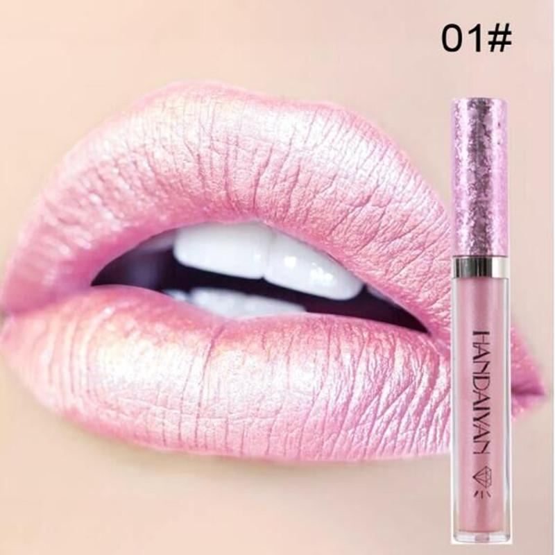 HANDAIYAN Glitter Lip Gloss Liquid Shimmer Matte Lipstick Waterproof lipgloss factory price best selling