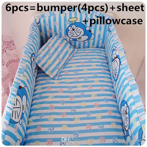 Promotion! Newborn Bedding Set for Baby's Crib,Safety and Healthy Kids Accessory Baby Bed Set bumpers+sheet+pillow cover