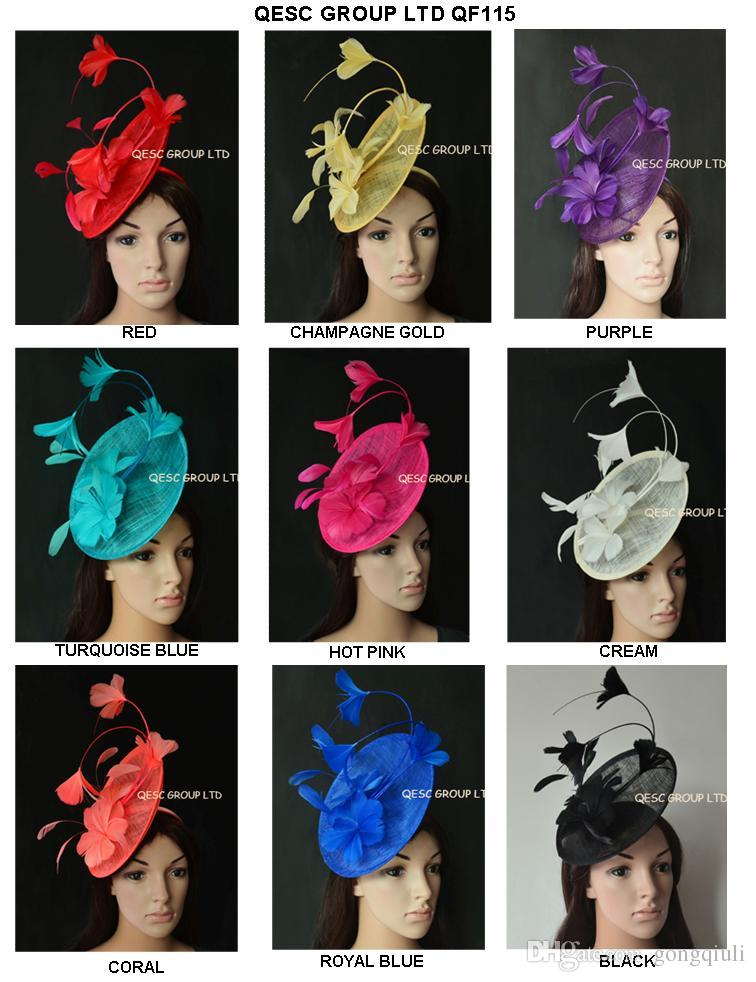 New Arrival. BIG Sinamay Feather Fascinator Hat For Melbourne Cup ... f9e20354958