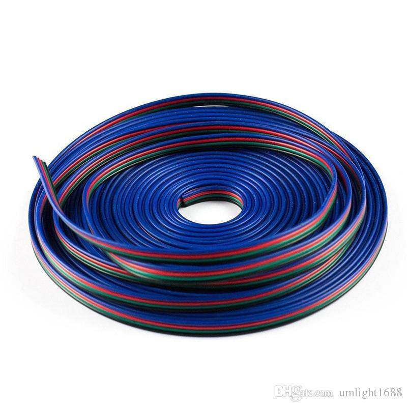 Rallonge de câble de rallonge LED de câble de câble de RVB de 500M 4 LED pour la bande de lumière de 5050/3528 LED RVB