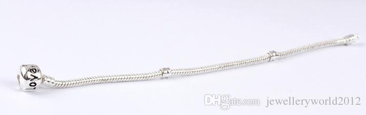 Bracelet jonc à chaîne en argent plaqué argent 17CM-20CM