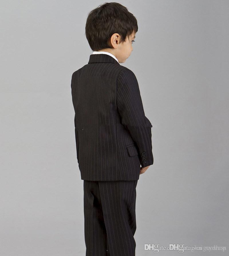 Custom Made 2016 Bearer Abiti tendenza Ragazzi Tuxedo bambini vestito convenzionale ragazzi adatta vestiti di moda bambini Jacket + Pants + Tie + Vest