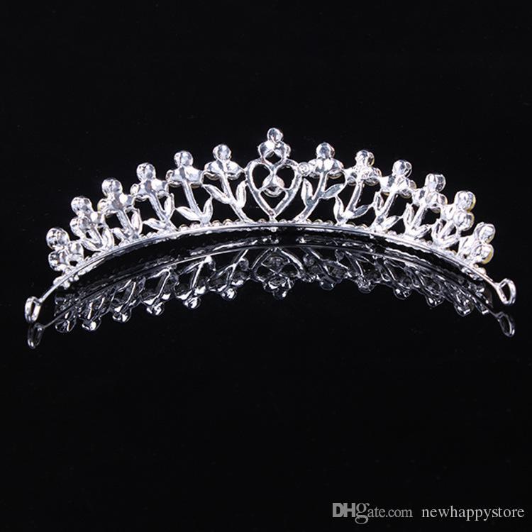 Hot Elegante New Stylish Piuttosto Argento Crystal Strass Wedding Bridal Crown Tiara Hair Jewelry Women Party