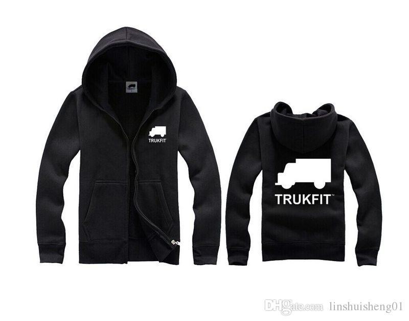 Moda ücretsiz kargo Trukfit Erkekler için Hoodies ve Tişörtü gri-siyah erkek hoodies kazak hip hop Hoodie