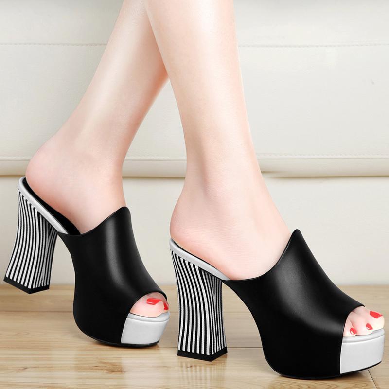 Sexy chunky heels