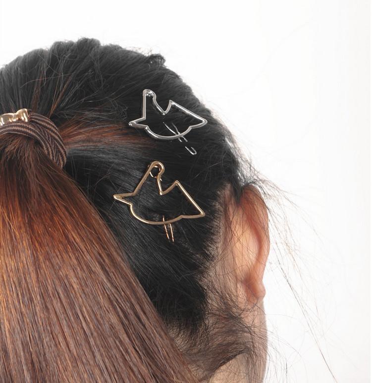 Grampos de cabelo Barrettes Moda Feminina de Ouro / Banhado A Prata Oco Out Alloy Unicorn Breif Acessórios Para o Cabelo Jóias Atacado SHR413