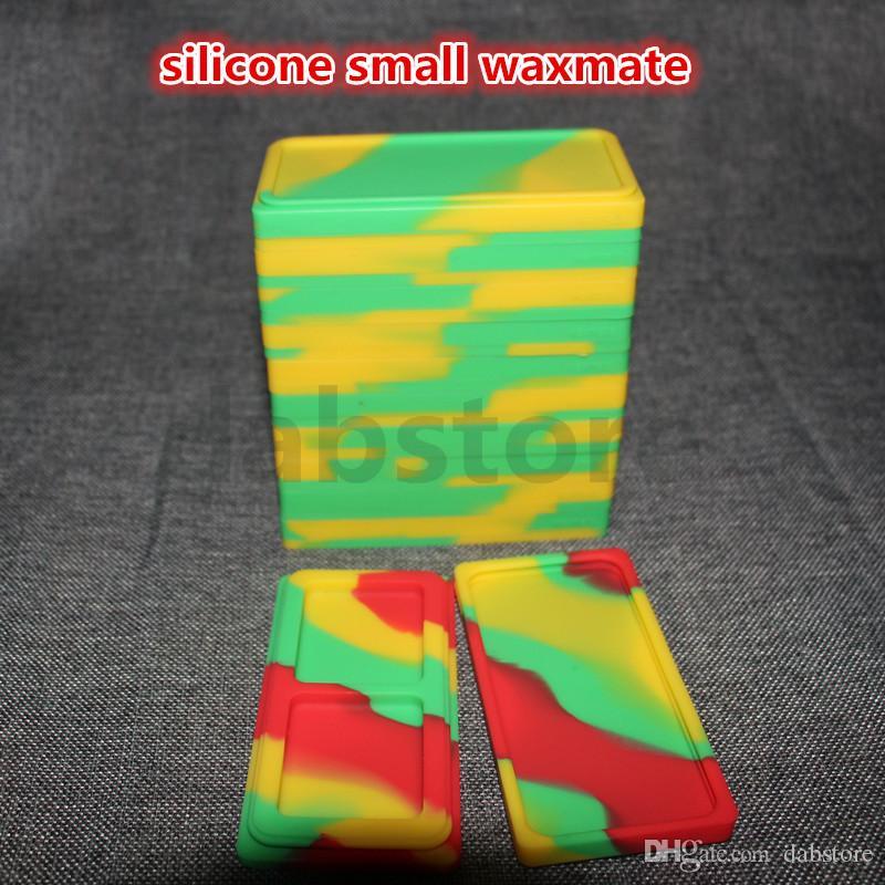 Kleine Waxmate-Behälter Silikondose kleine Waxmate-Behälter Antihaft-FDA-Wachsgläser Tupfen Aufbewahrungsbox Ölhalter für Vaporizer Pen Vape