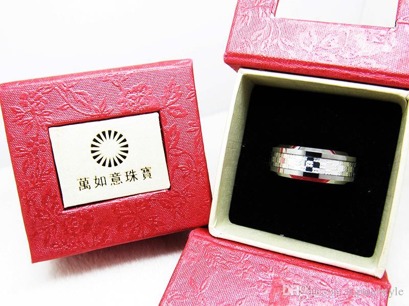 8mm Anillo de dedo de joyería de moda con incrustaciones de plata con anillo de carburo de tungsteno pulido para hombres