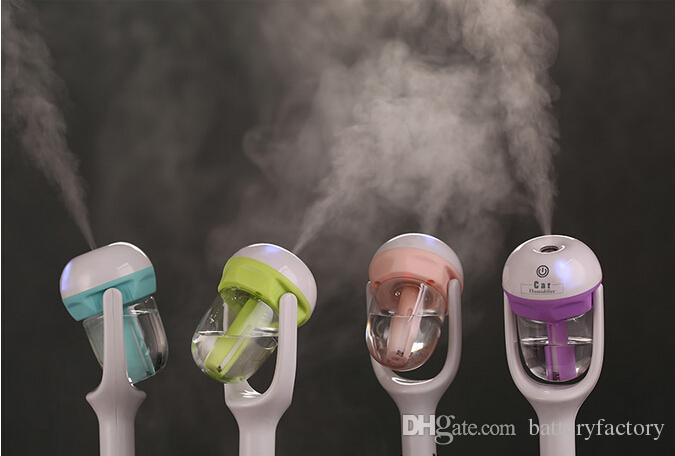 nEW Humidificador de enchufe del coche USB Fresco refrescante fragancia ehicular aceite esencial humidificador ultrasónico Difusor de coche niebla Aroma WT102