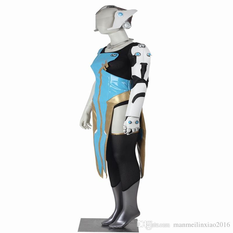 HOT Games COS Games Shows Symmetra Cosplay Costume Full Set Adult Customize For Halloween Party