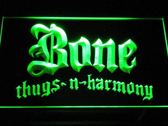 c140 Bone Thugs Harmony LED Neon Sign with On/Off Switch 7 Colors to choose Cheap lighted store sign