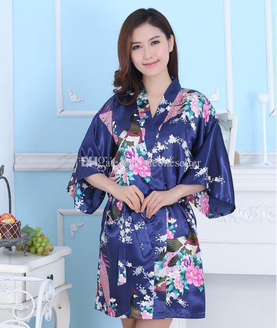 Robe Chemise De En Des Soie Femmes Pyjamas Japonais Acheter Kimono zwqYRg