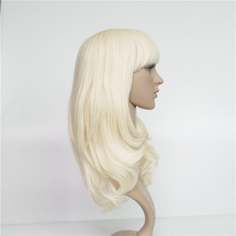 Kunsthaar Perücke Blonde Lace Front Perücke 16 inch Rinka Haarschnitt Natürliche Körperwelle 8a Grade Gute Qualität