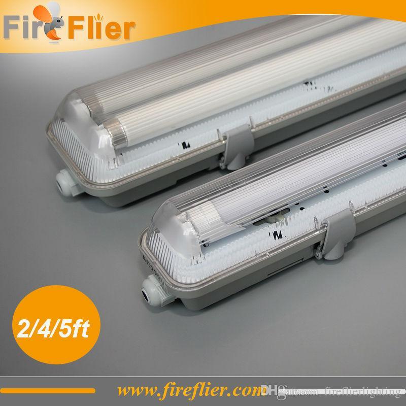 2019 Double T8 2ft 4ft 5ft Tube Light Fixture IP65