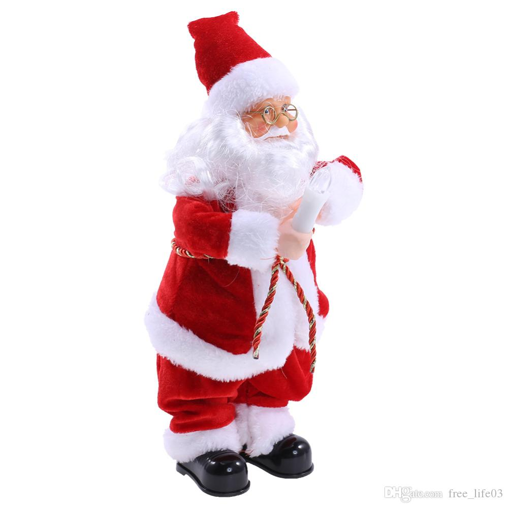 2018 christmas grandpa decorations for home dancing singing santa claus electric christmas toys christmas ornament party decor from free_life03 - Singing Christmas Toys