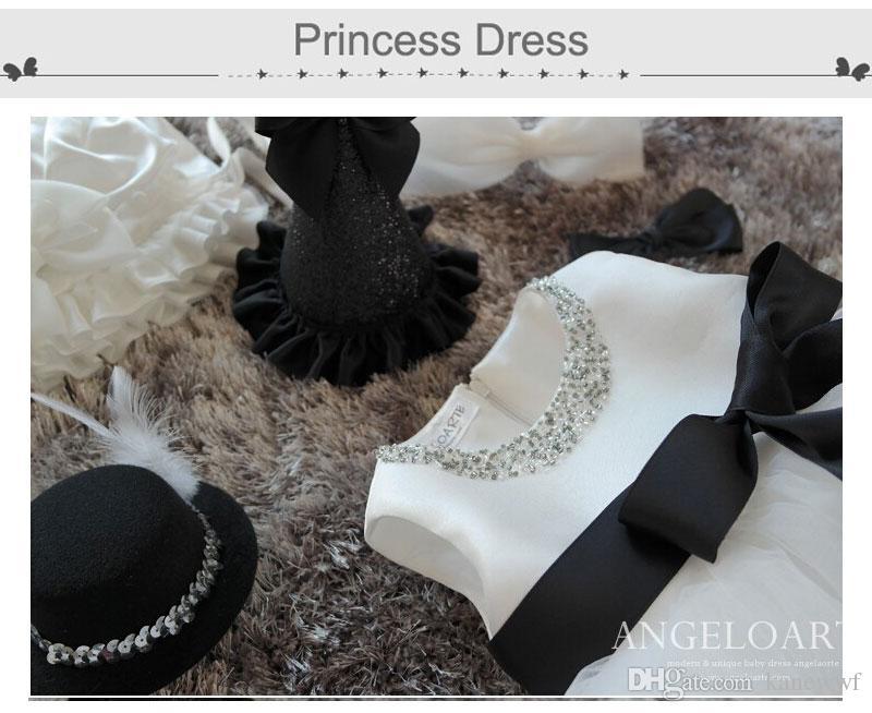 2015 primavera flor niña vestidos con cuentas escote bebé niña fiesta de cumpleaños navidad comunión vestidos niños niña niña vestidos de fiesta