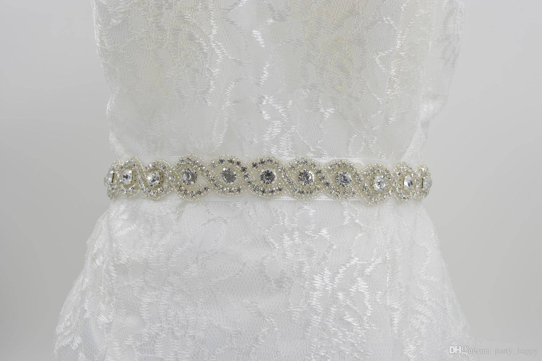 2019 A Class Diamond Wedding Dress Waist Belt Of Big Shop Sign Bride Bridal Sash Pearl Beaded From Partyhappy: Red Diamond Wedding Dresses At Reisefeber.org