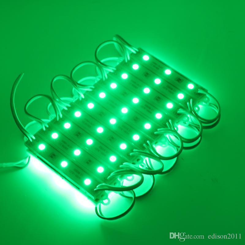 Edison2011 SMD 5050 화이트 레드 블루 쿨 [웜 채널 편지에 대한 LED 모듈 방수 IP65 LED 모듈 DC 12V SMD 3 개의 LED 백라이트