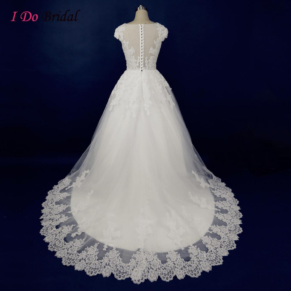 Compre Vestidos De Novia Coreanos Blancos Princess Lace Real Photo ...