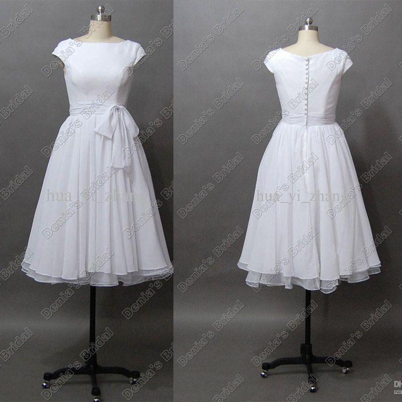 Discount Destination Wedding Dresses Vintage 50s' A Line
