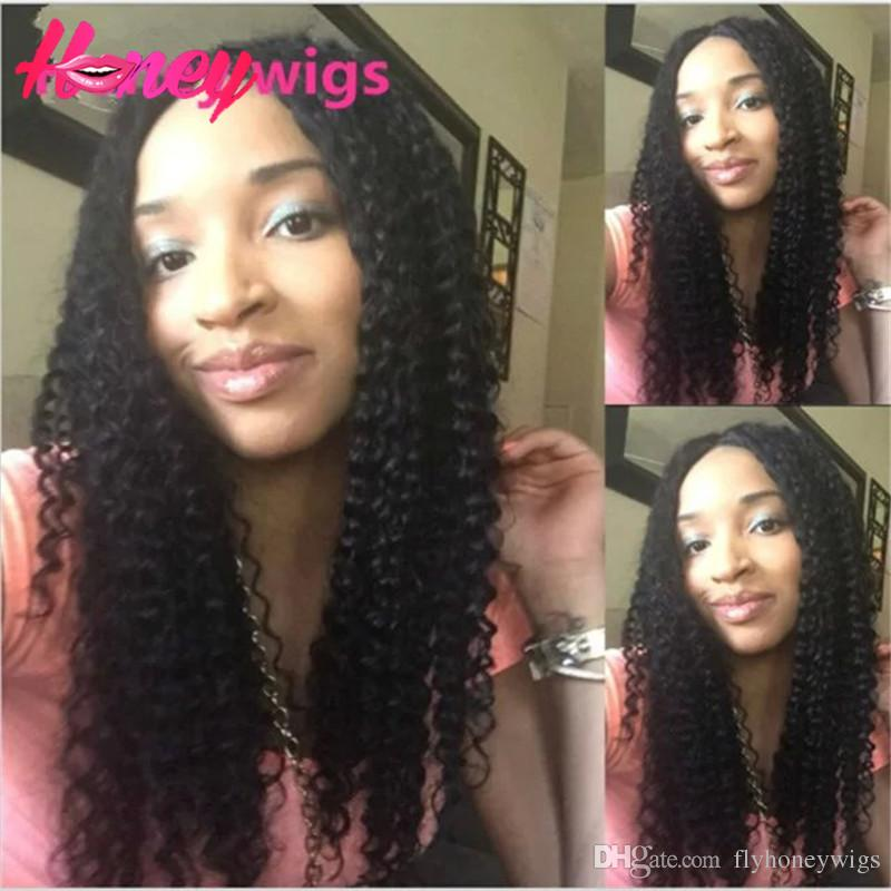 8A Full lace human hair wigs for black women deep curly full lace wig Brazilian virgin hair curly human hair lace front wigs