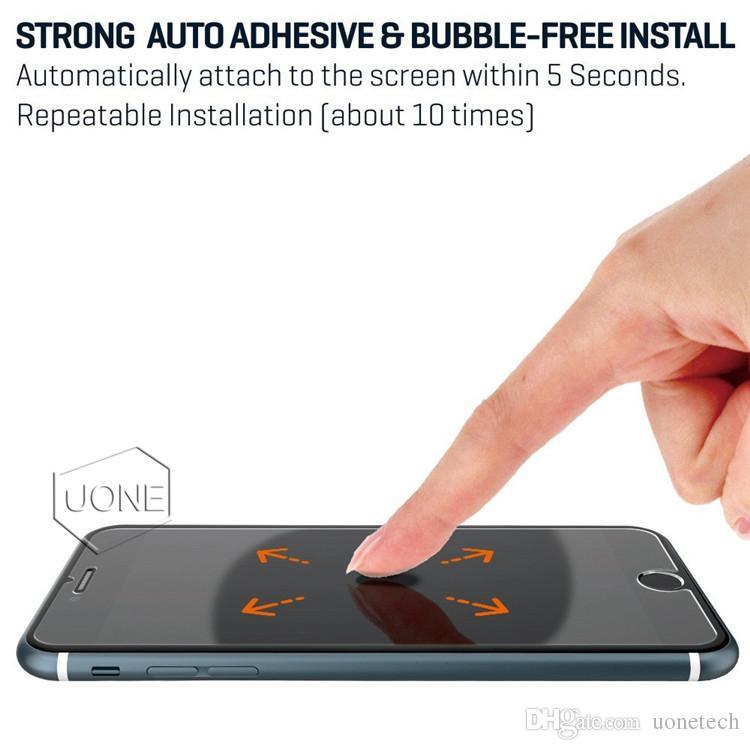 YENI iPhone X XS için 8 7 6 S Temperli Cam Ekran Koruyucu için iPhone 6 S Artı Samsung S6 S7 9 H Sertlik ile LG ekran temizle filmi ...