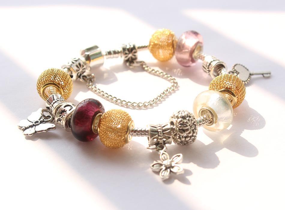 DIY Große Loch Lose Perlen pandora Stil Charms Perlen für Europäische Armband Halskette Schmuck Anhänger Zubehör