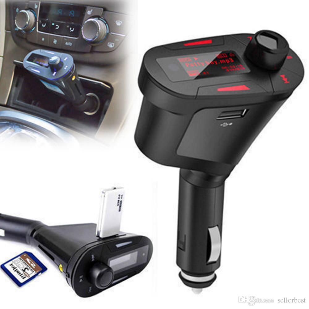 Rote Farbe Hintergrundbeleuchtung Auto MP3-Player Wireless FM Transmitter mit USB für SD MMC-Kartensteckplatz Drop Shipping Großhandel