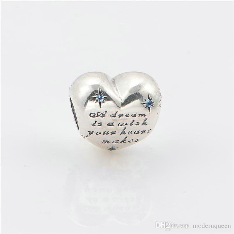 Sterling silver heart charm for bracelets fits DIY bracelet and necklace hot sale LW470