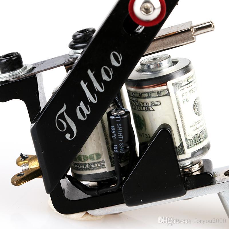 NEW Arrive! Professional Complete New Tattoo Machine Gun Casting Iron 10 Coils Liner Tattoo Machine TM8397