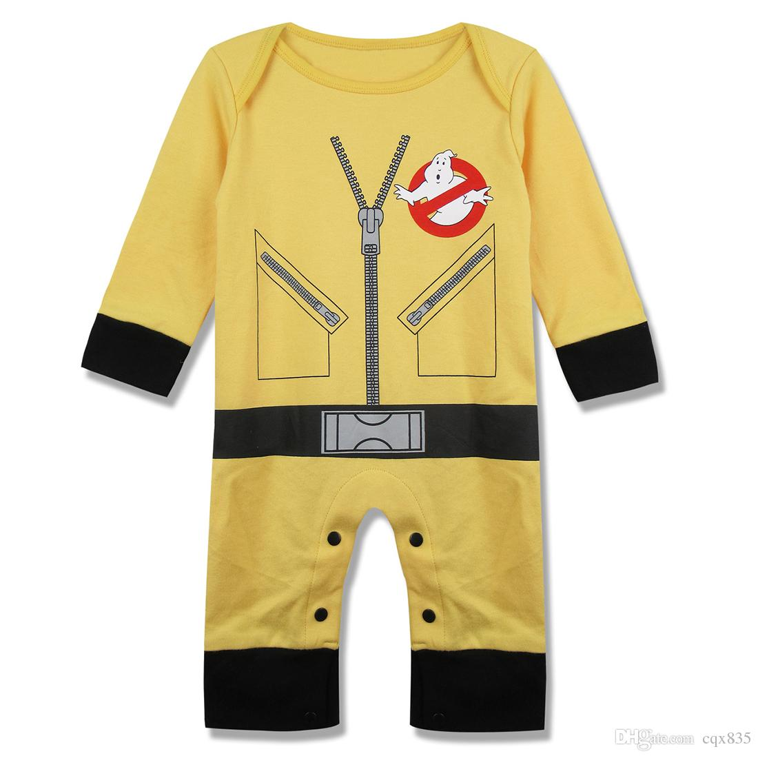 8b2db7eff3af Baby Boys Girls Ghostbusters Funny Romper Jumpsuit Bodysuit Infant ...