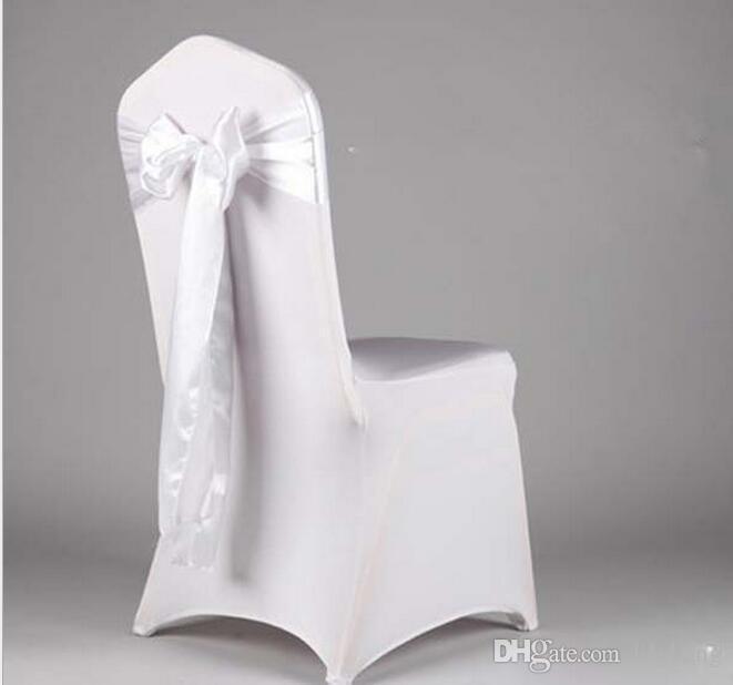 wholesale Fancy colorful satin chairs sash wedding chair sashes banquet chair sashes Bowknot sofa cover ribbon sash