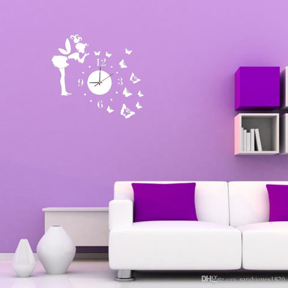 3d wall clock wall mirror sticker clock watch mirror stickers home see larger image amipublicfo Image collections