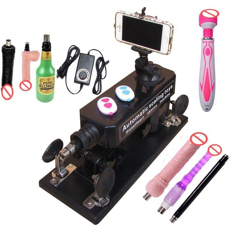Nueva actualización Affordable Sex Machine Set y Mujeres Masturbación automática Love Robot Machine 0-6 Stroke Distance Sex Toys