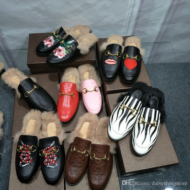 2017 Fashion Brand Street Style Ladies Princetown Leather