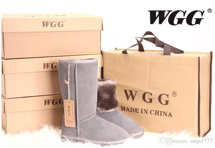 Abastecimento de Gota de Compras Novas mulheres da moda meninas botas de neve botas de inverno quente sapatos de qualidade superior original botas de pele de peles tamanhos eur36-41