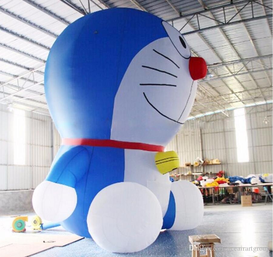 design clássico permanente azul Doraemon personagem inflável dos desenhos animados para o negócio