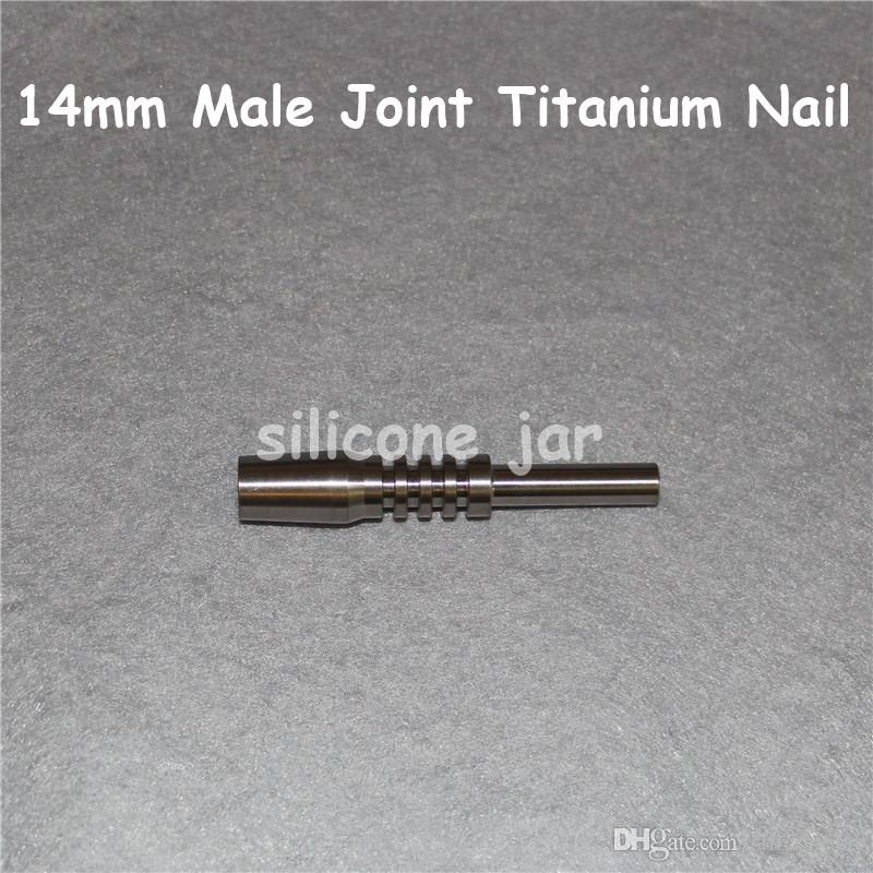 2016 Universal Titanium Nail 14mm male titanium nails Adjustable Male joint Carb Cap nails for Glass Pipe Bong